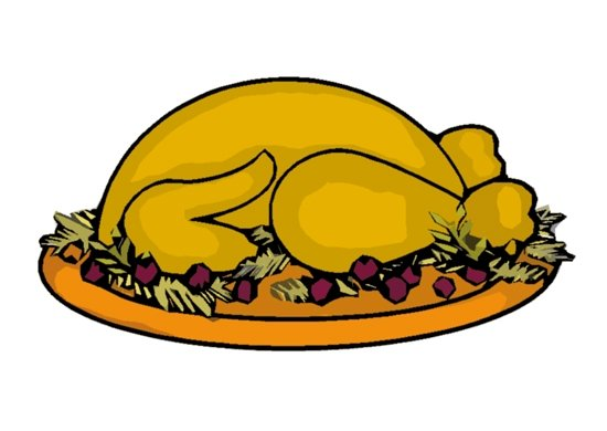 550x390 Free Clipart Of Thanksgiving Dinner