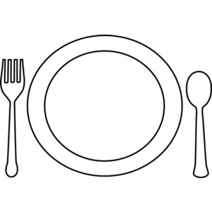 Dinner Clipart Black And White