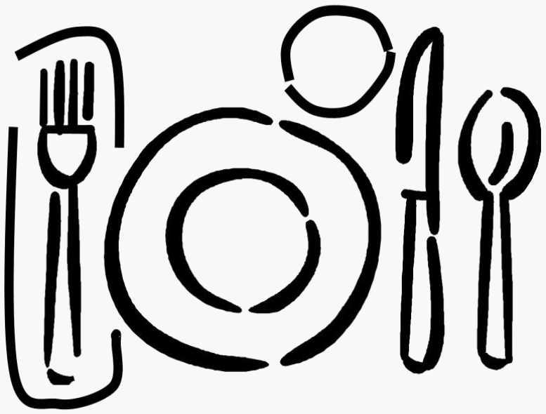 777x590 Clip art dinner table setting clipart  sc 1 st  Clip Art Mag & Dinner Clipart Black And White | Free download best Dinner Clipart ...
