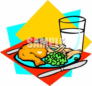 300x279 Clipart Images Of Meqls Dinner Food