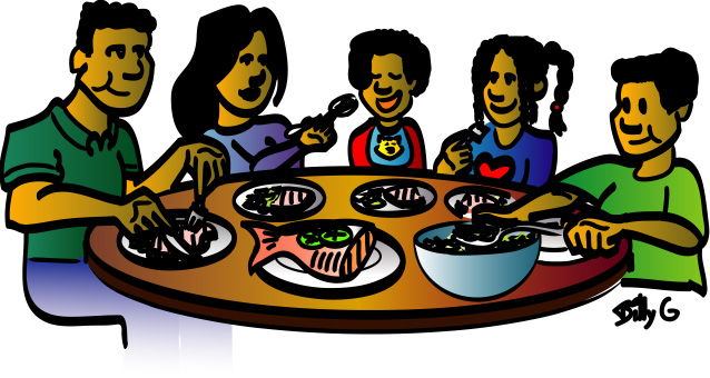 638x340 Family Dinner Clipart Free Images 2