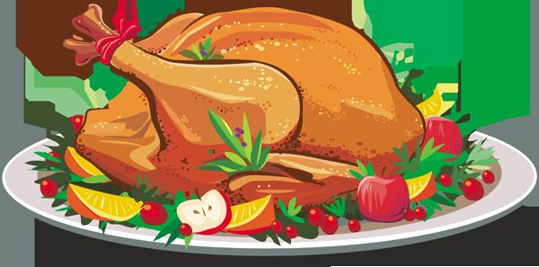 600x297 Feast Clipart Turkey Dinner