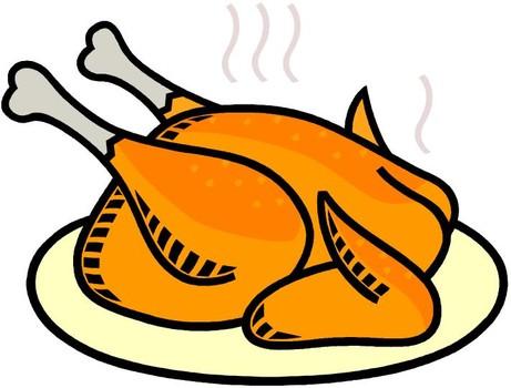 461x350 Grilled Chicken Dinner Clipart