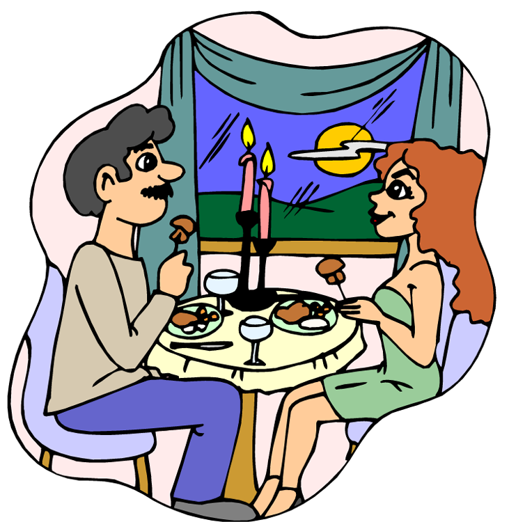 731x750 Romantic Dinner Clipart
