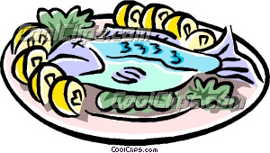 300x170 Seafood Dinner Clipart