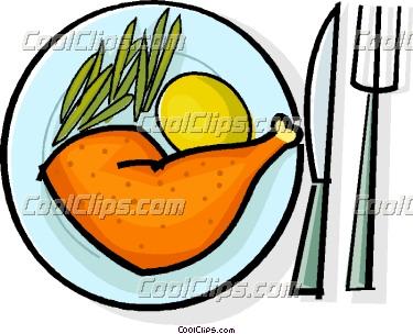 375x304 Chicken Dinner Clipart