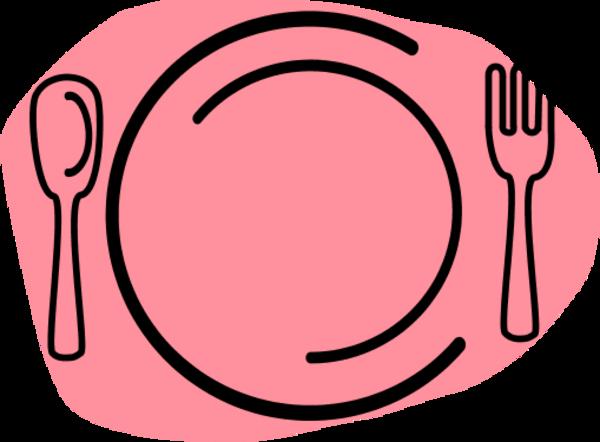 600x442 Dinner Plate Clipart