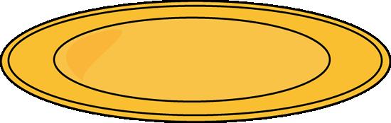 550x174 Yellow Dinner Plate Clip Art