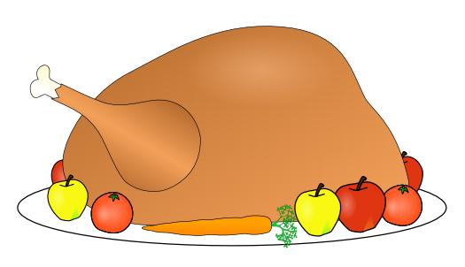 525x302 Free Clipart Of Thanksgiving Dinner