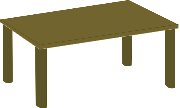 600x361 Kitchen Table Clipart