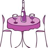 170x170 Royalty Free Dinner Table Clip Art
