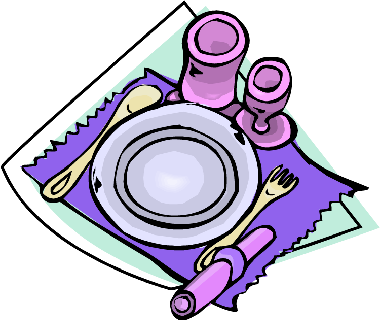 750x662 Table Clipart Set Dinner