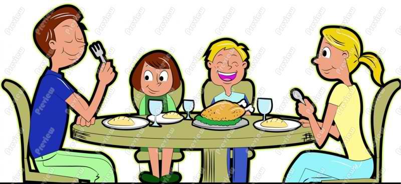 800x368 Kids Eating Dinner Clipart