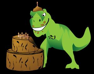 300x236 Birthday Clipart Dino