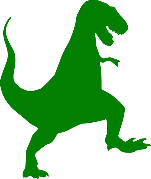 504x597 Green Dino Clipart