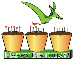 300x245 Dinosaur Birthday Clipart