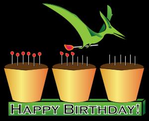 300x245 Dinosaur Birthday Clipart