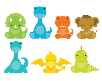 340x270 Dinosaur clipart DINOSAURS Clipart and Digital Paper Set
