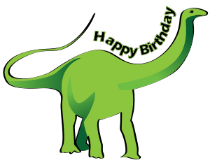 300x236 Dinosaur clipart happy birthday