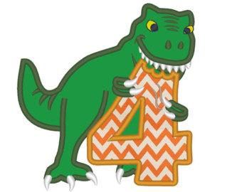 340x270 Tyrannosaurus Rex clipart dinosaur birthday