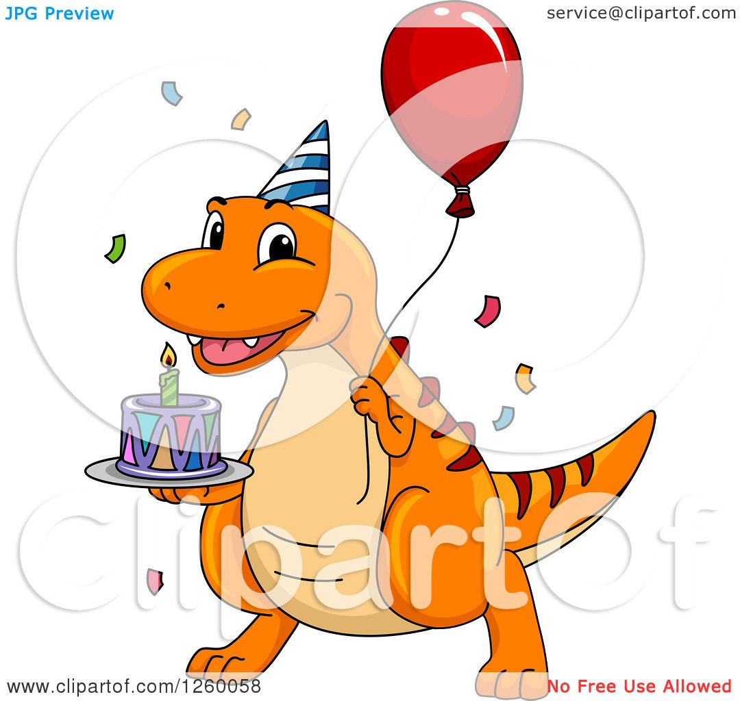 1080x1024 birthday dinosaur clipart