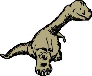 300x248 Dinosaur Sideview Clip Art