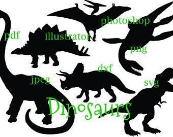 340x270 Dinosaur Silhouette Etsy