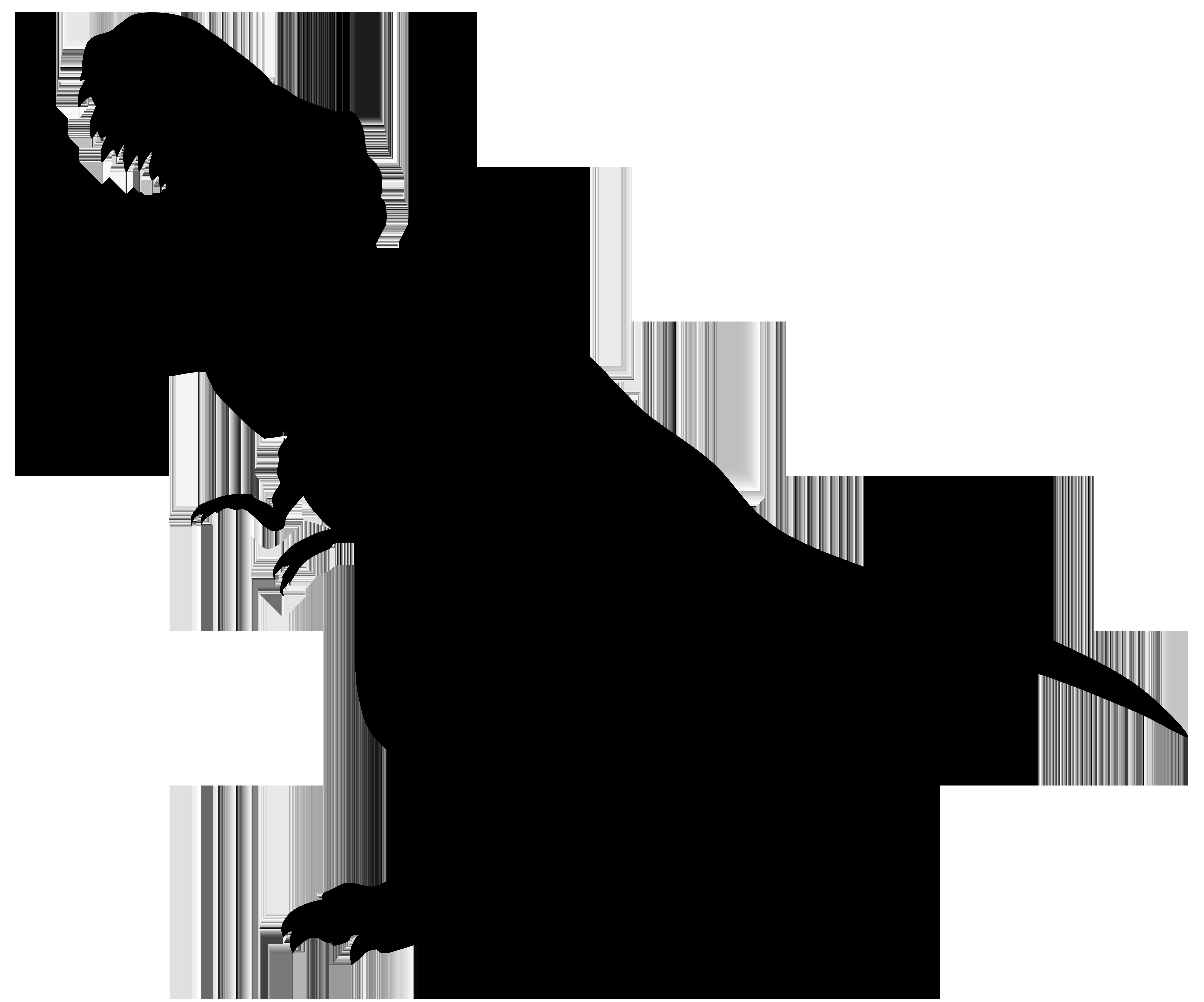 8000x6660 Tyrannosaurus Clipart Silhouette