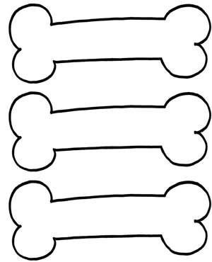 300x370 Bones clipart outline