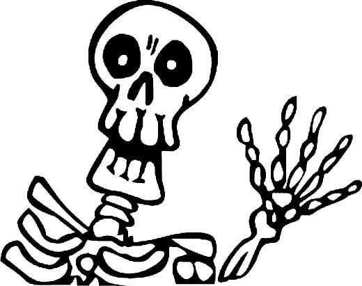 520x411 Dinosaur Skeleton Coloring Page Clipart Panda