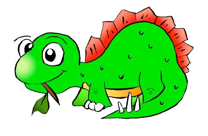 691x452 Free Cute Dinosaur Clipart Image