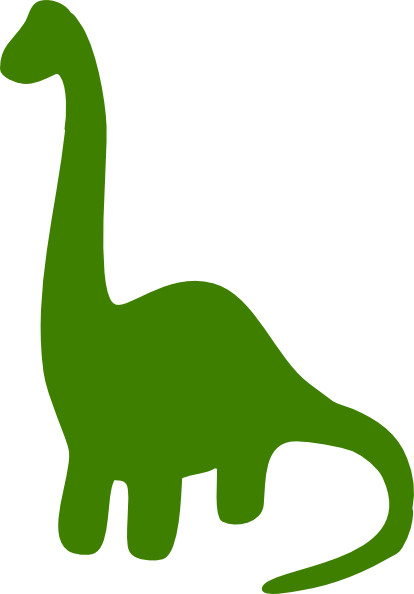 414x594 Green Dinosaur Clipart