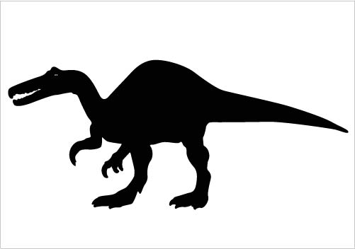 501x352 Dinosaur Cliparts Black#202301