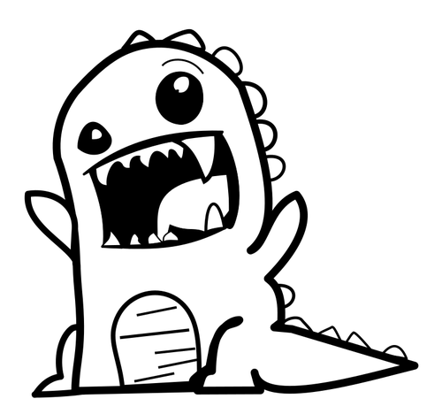 500x468 Dinosaur Cartoon Vector Public Domain Vectors