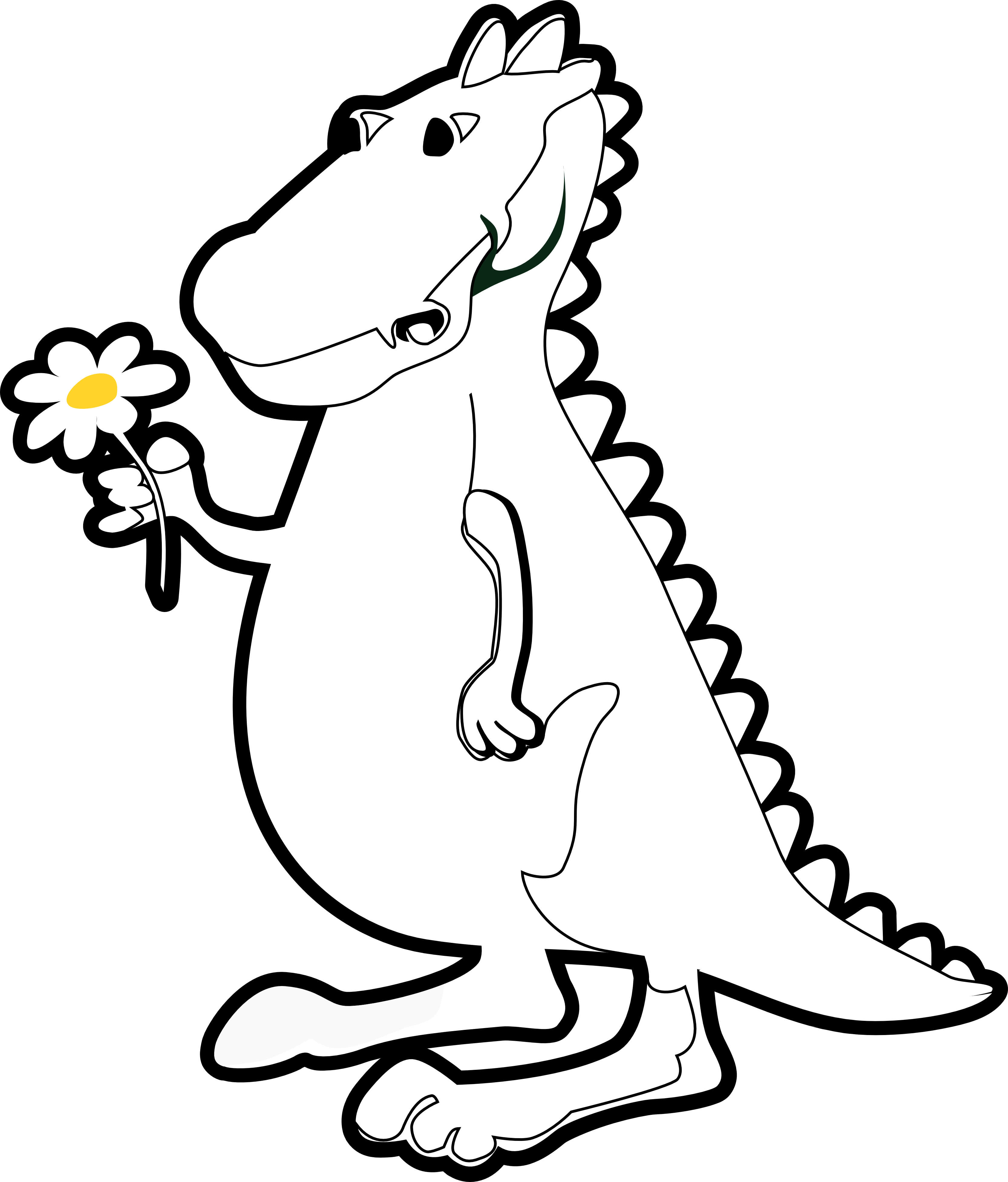 Dinosaur Clipart Black And White   Free download on ClipArtMag