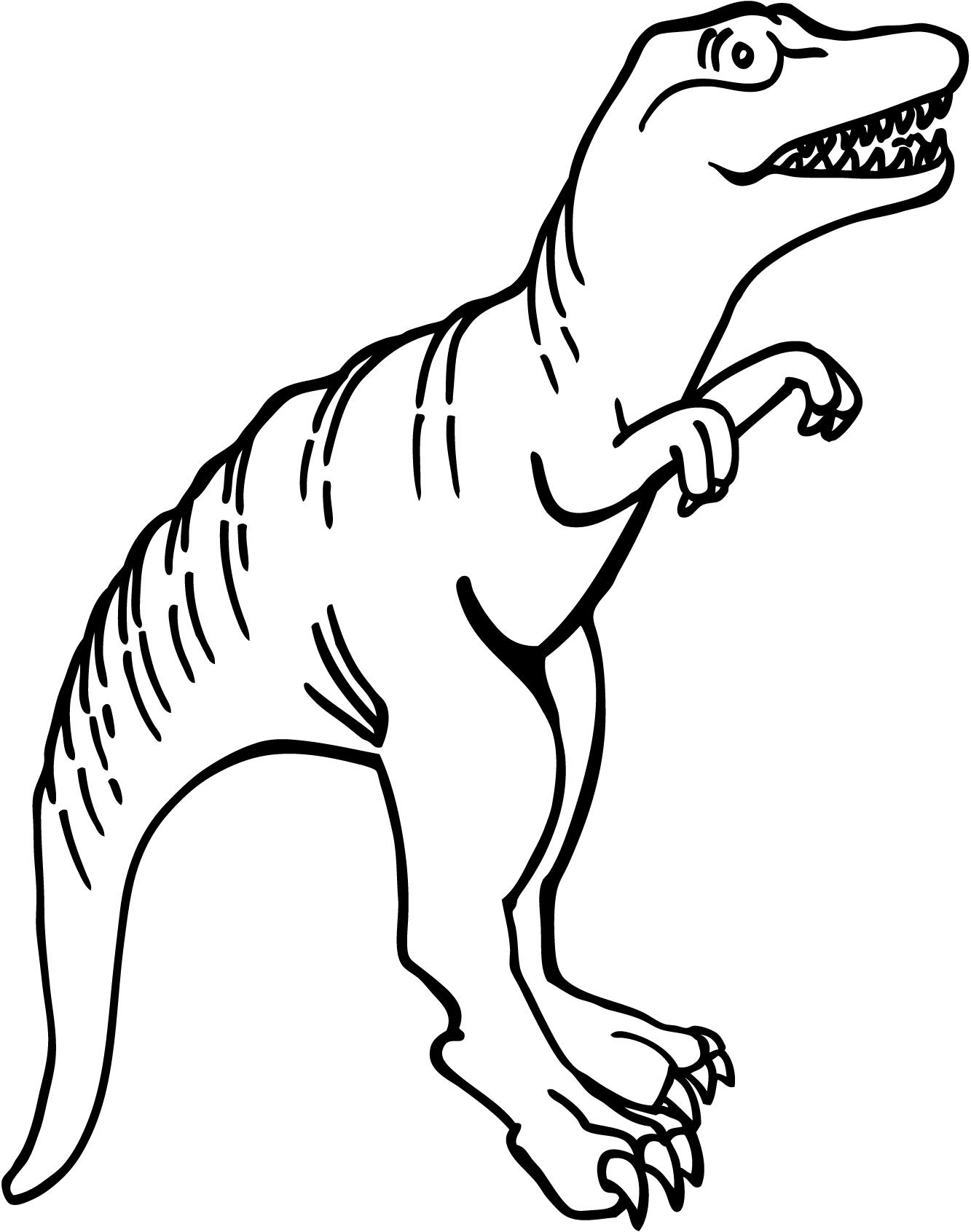 1333x1692 Tyrannosaurus Rex clipart black and white