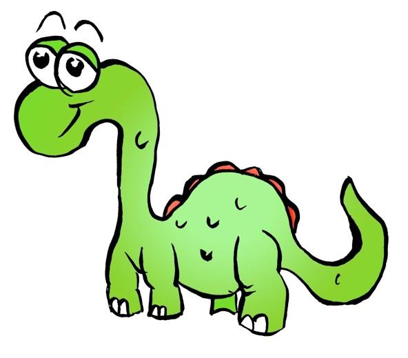 592x519 Royalty Free Cute Dinosaur Clipart