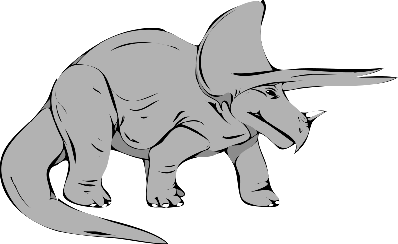 800x490 Triceratops Dinosaur Clipart