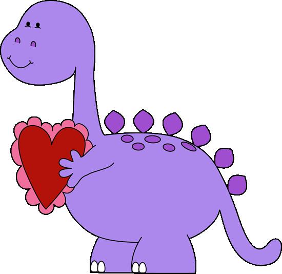 550x534 Valentine#39s Day Dinosaur Clip Art