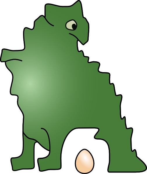 504x596 Dinosaur Laid An Egg Clip Art Free Vector In Open Office Drawing