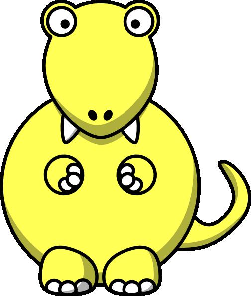 504x595 Yellow Dinosaur Clip Art