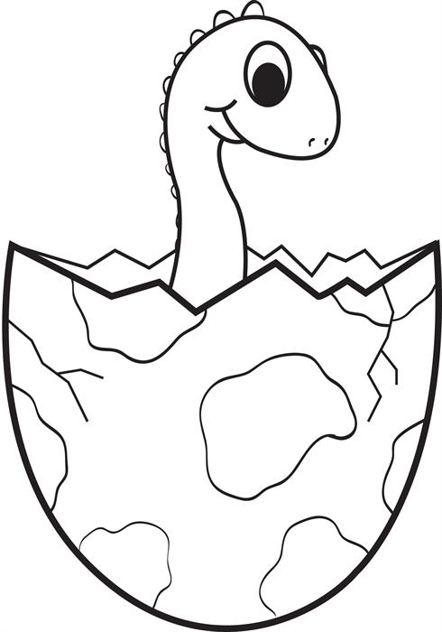 490x700 Dinosaur Egg Coloring Page Clipart Panda