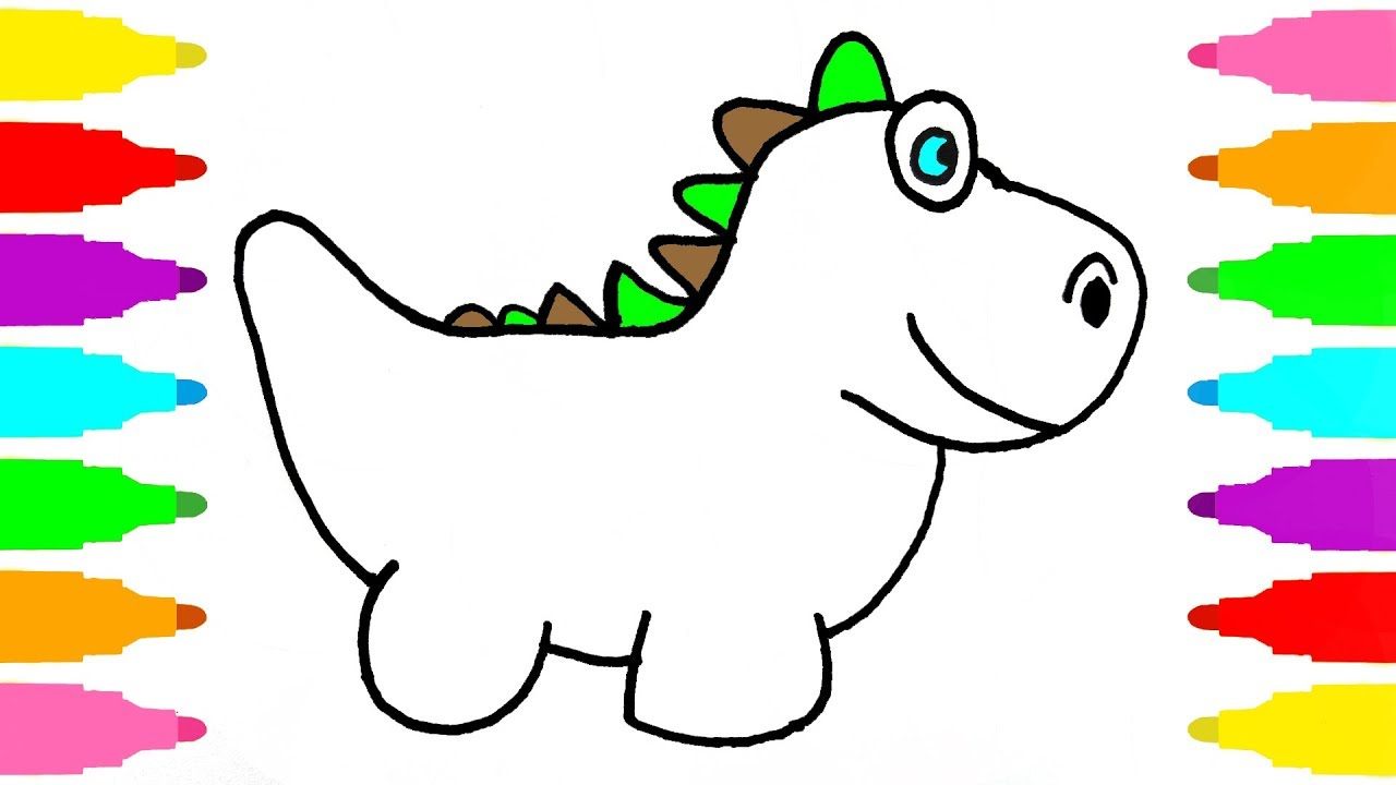 1280x720 How To Draw Dinosaur For Kids