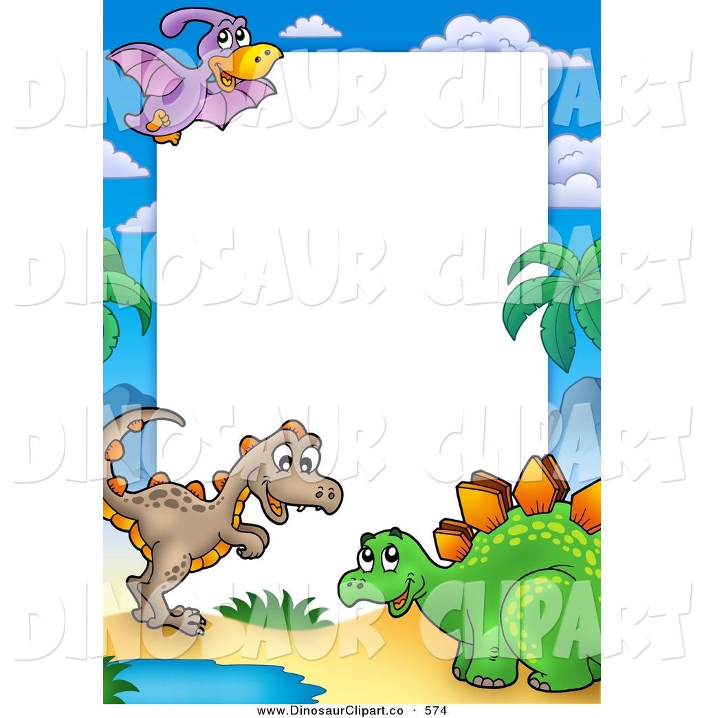 1024x1044 Dinosaur Border Clip Art