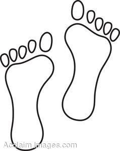 238x300 Footprint outline clipart