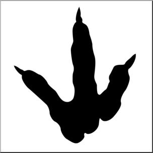 304x304 Clip Art Dinosaur Footprint 01 Bampw 1 I Abcteach