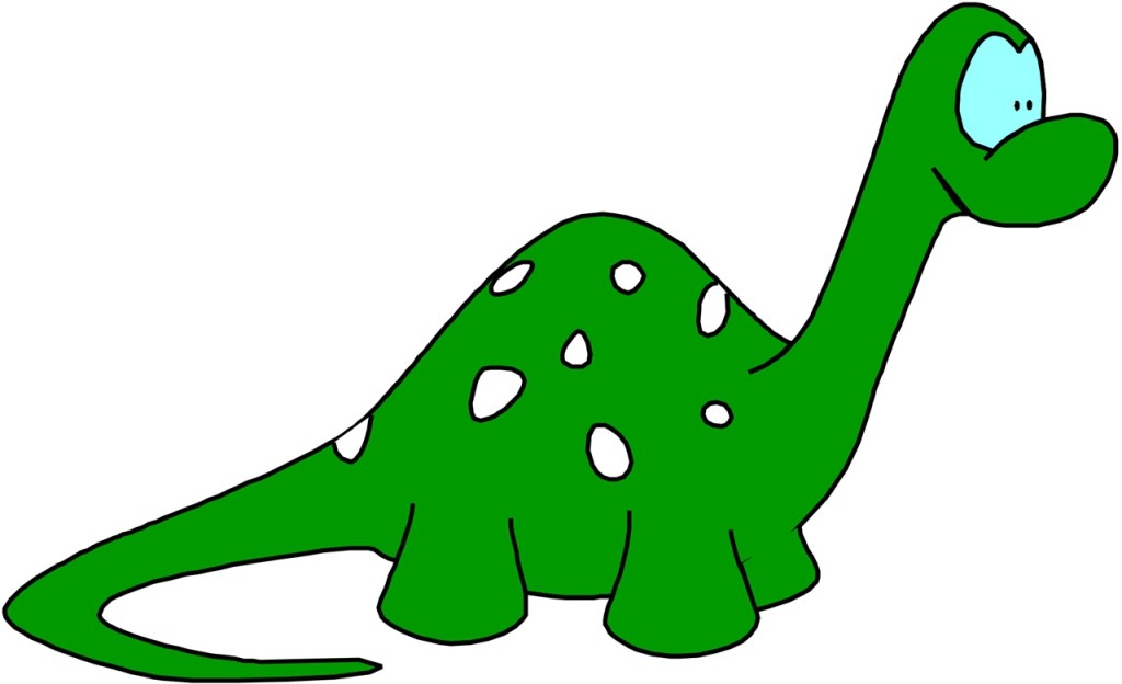1024x624 Dinosaur Solid Color Clipart