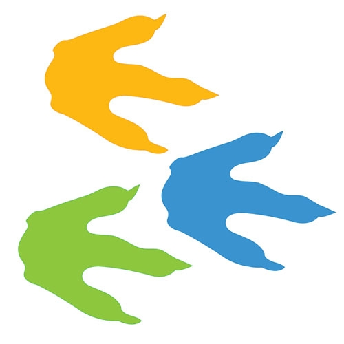 500x500 Footprint Dinosaur Clipart, Explore Pictures
