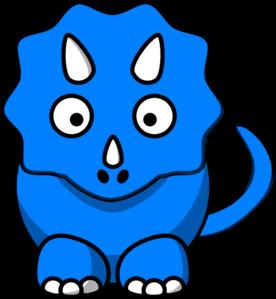 276x299 Baby Blue Dinosaur Clip Art