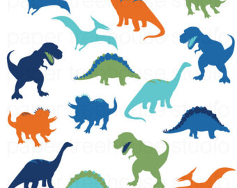 340x270 Blue Triceratops Clipart